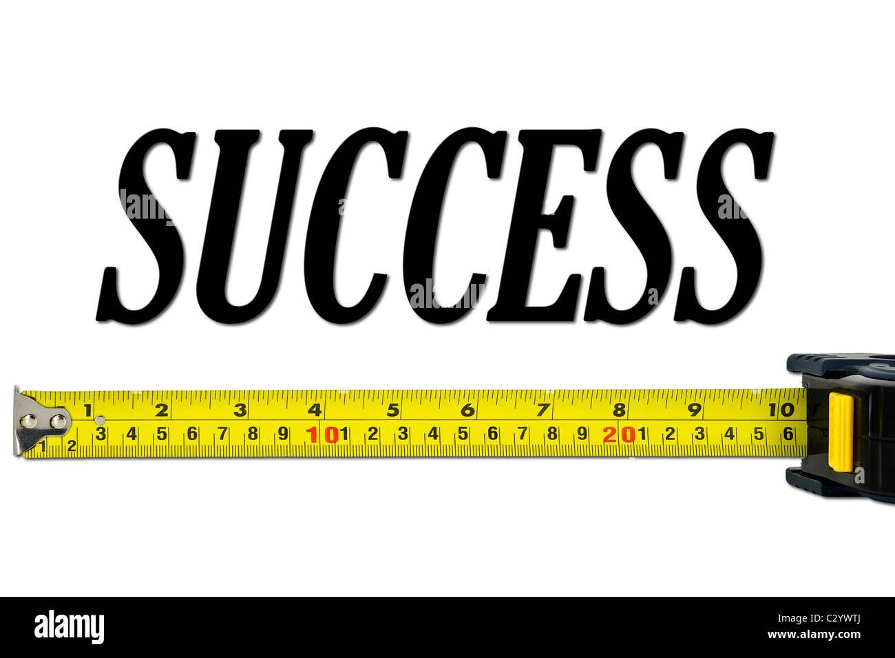 Mesure du succès Concept isolated on White Photo Stock