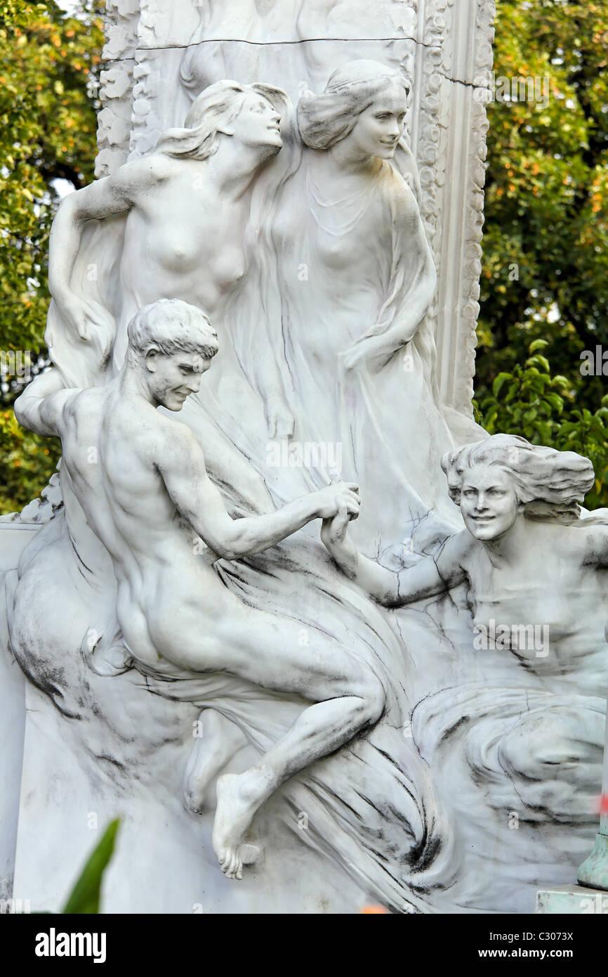 L'Autriche, Vienne, monument de Johann Strauss Photo Stock