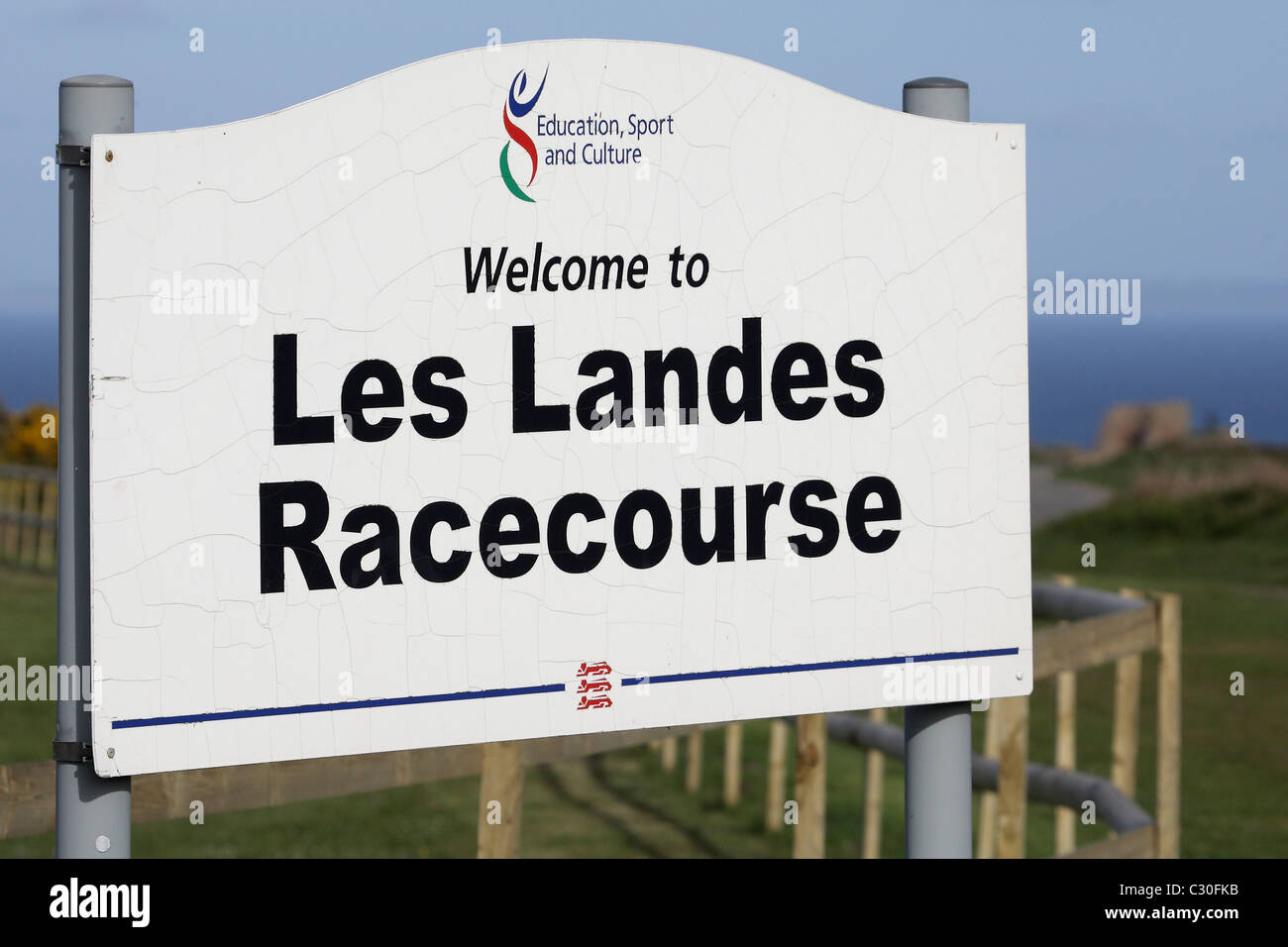 Les Landes Hippodrome Jersey Channel Islands Photo Stock
