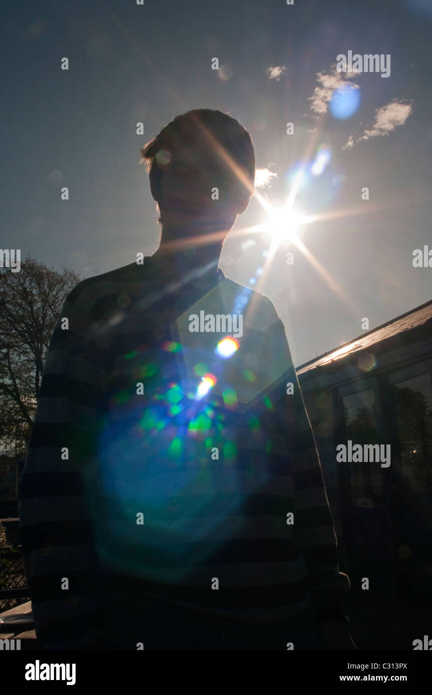 Lens flare, ghosting Banque D'Images