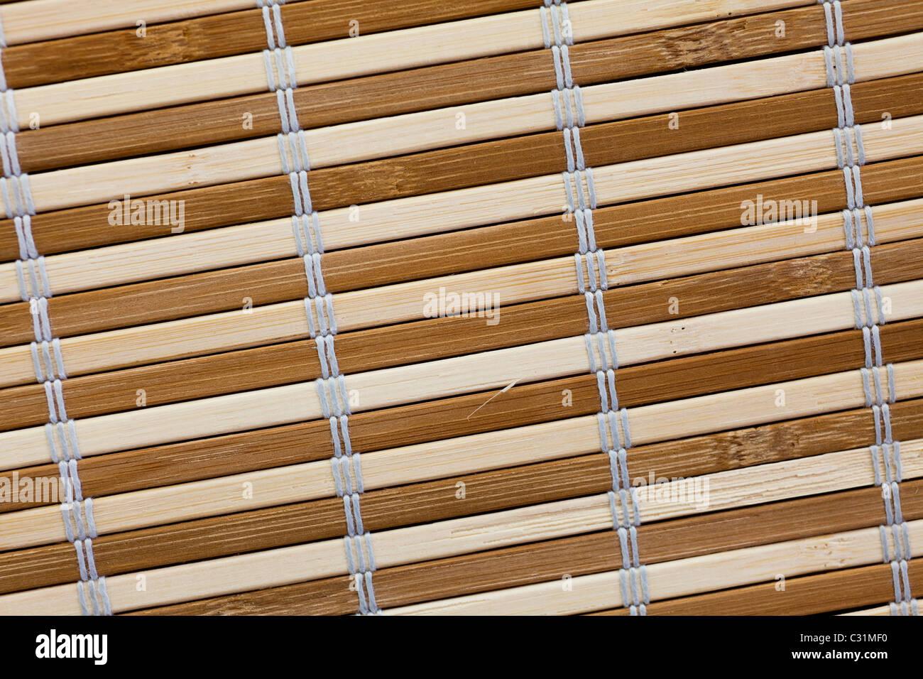 Arrière-plan de nattes de bambou Photo Stock