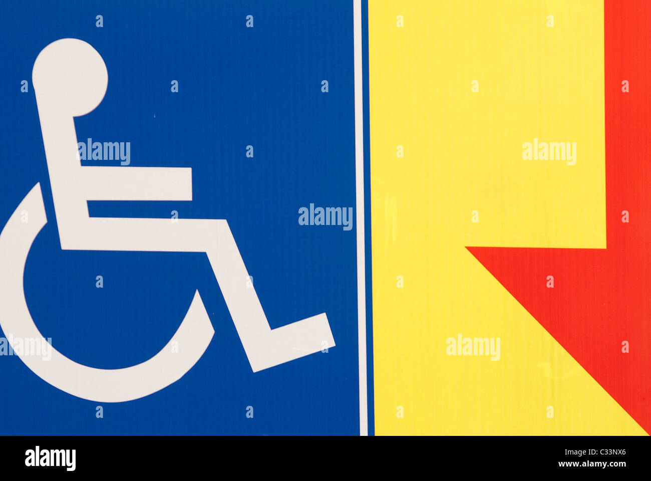 Accès handicapés sign Photo Stock