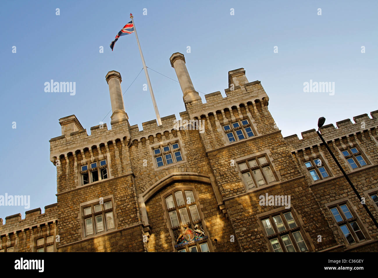 Armoury House, Honorable Artillery Company, City Road, Londres, Angleterre Photo Stock
