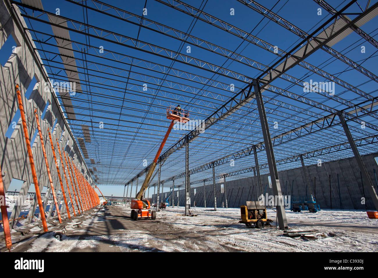 La construction d'entrepôt Photo Stock