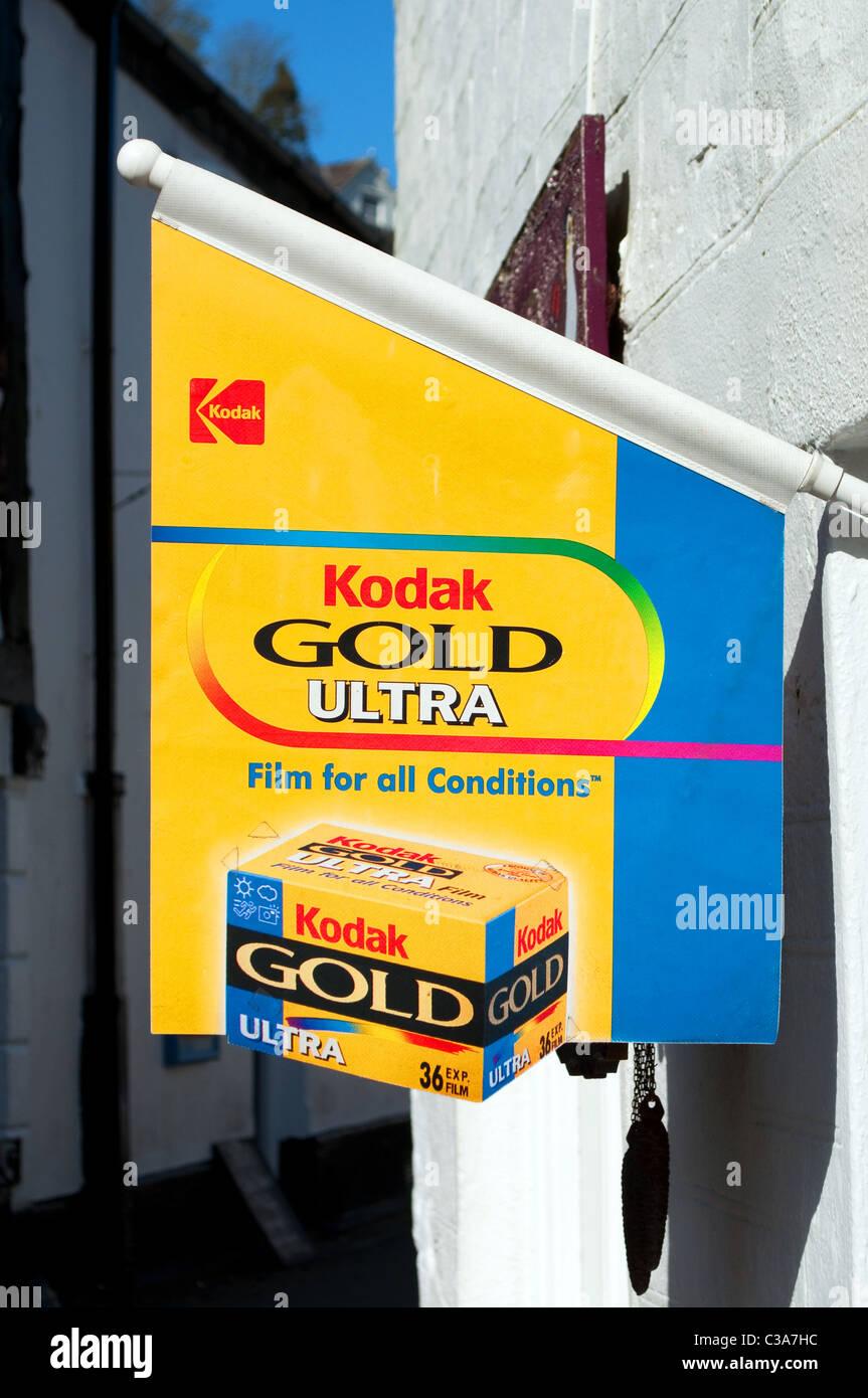 Un film Kodak enseigne publicitaire Photo Stock