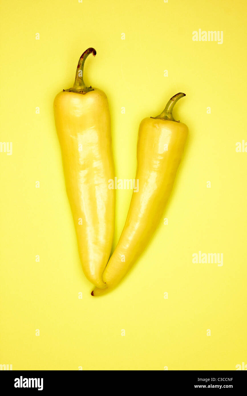 Piment banane Photo Stock