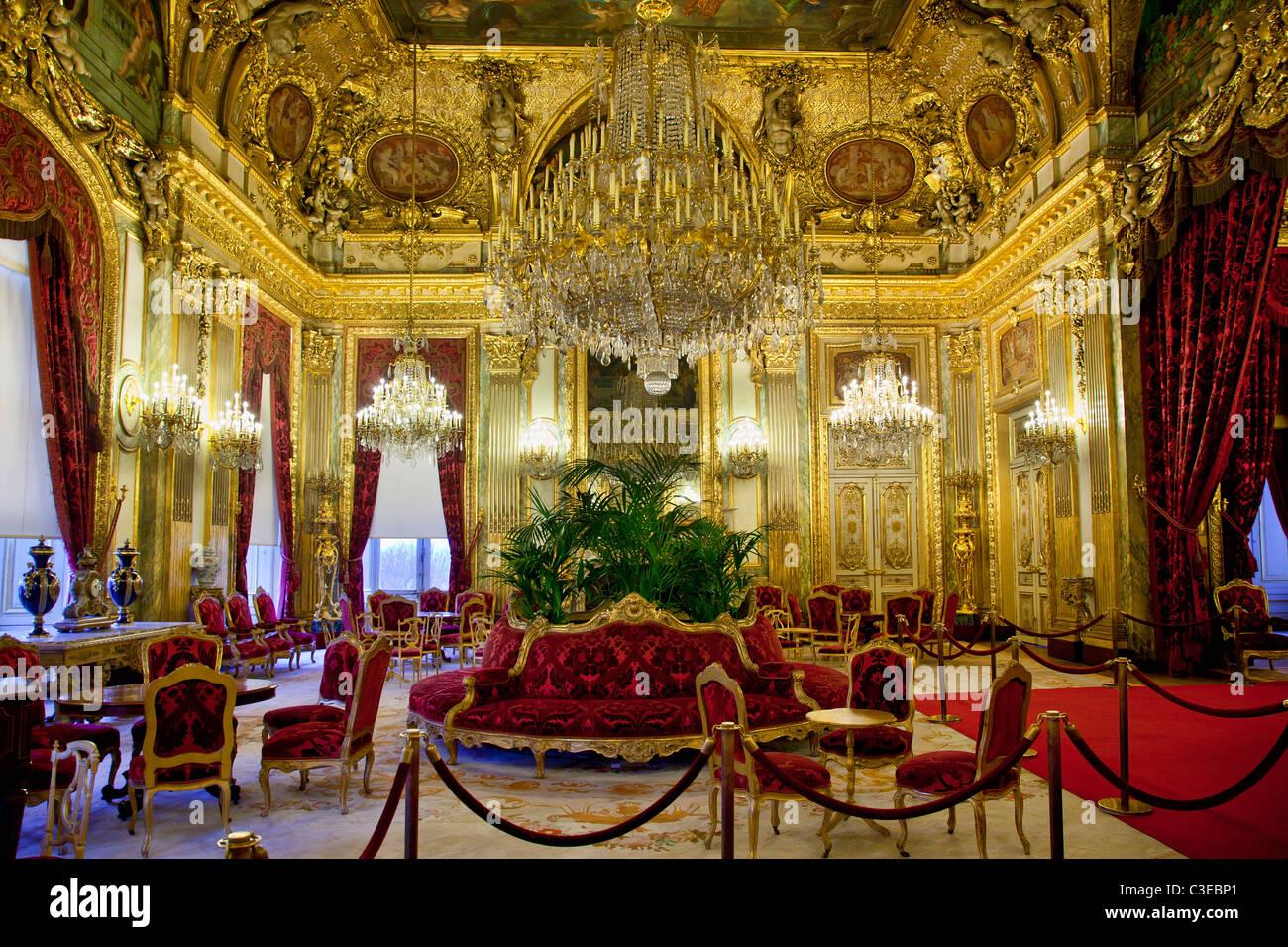 France, Paris, Musée du Louvre, les appartements de Napoléon III situé dans l'aile Richelieu Photo Stock
