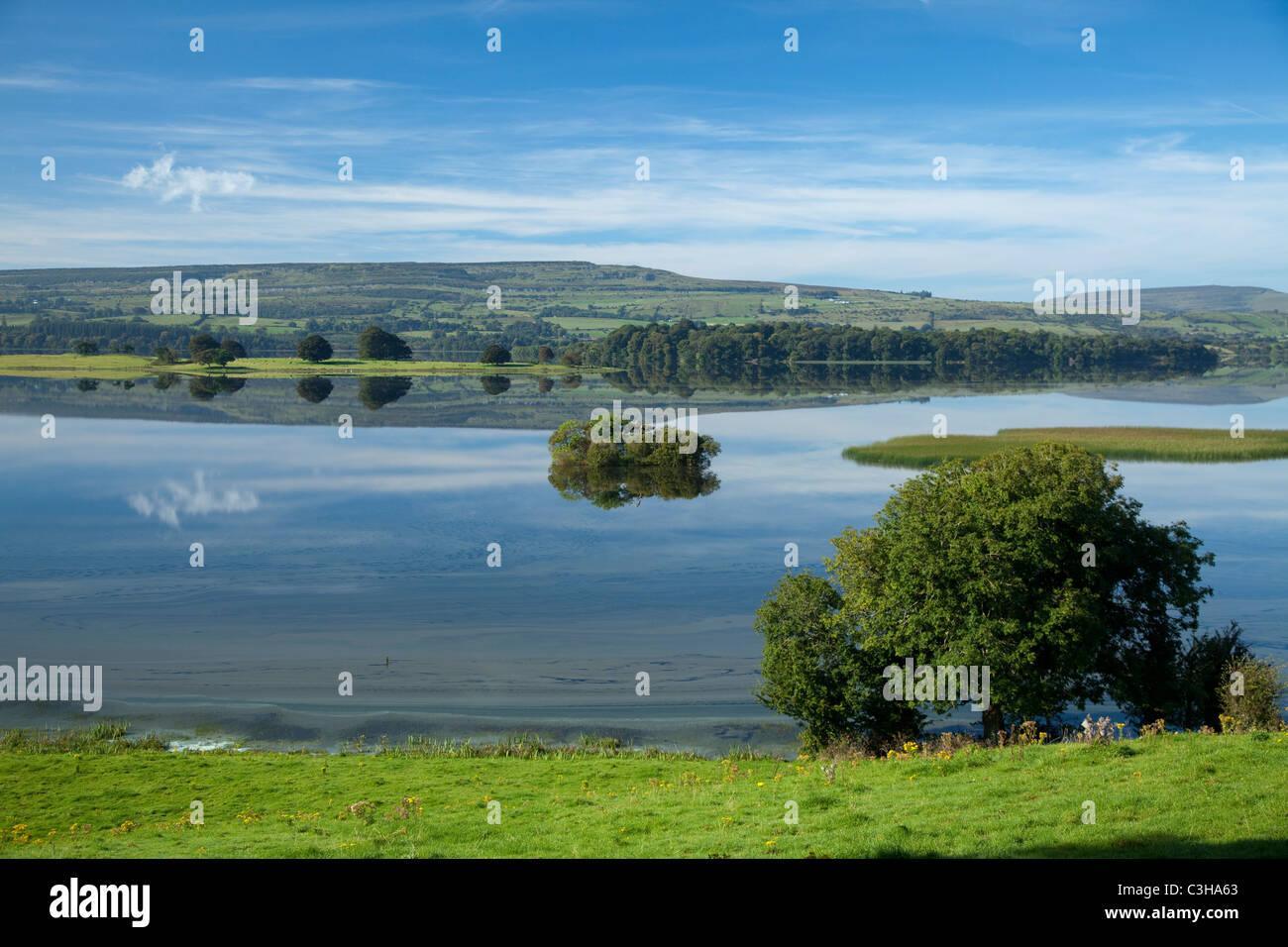 Vue sur Lough Arrow, Comté de Sligo, Irlande. Photo Stock