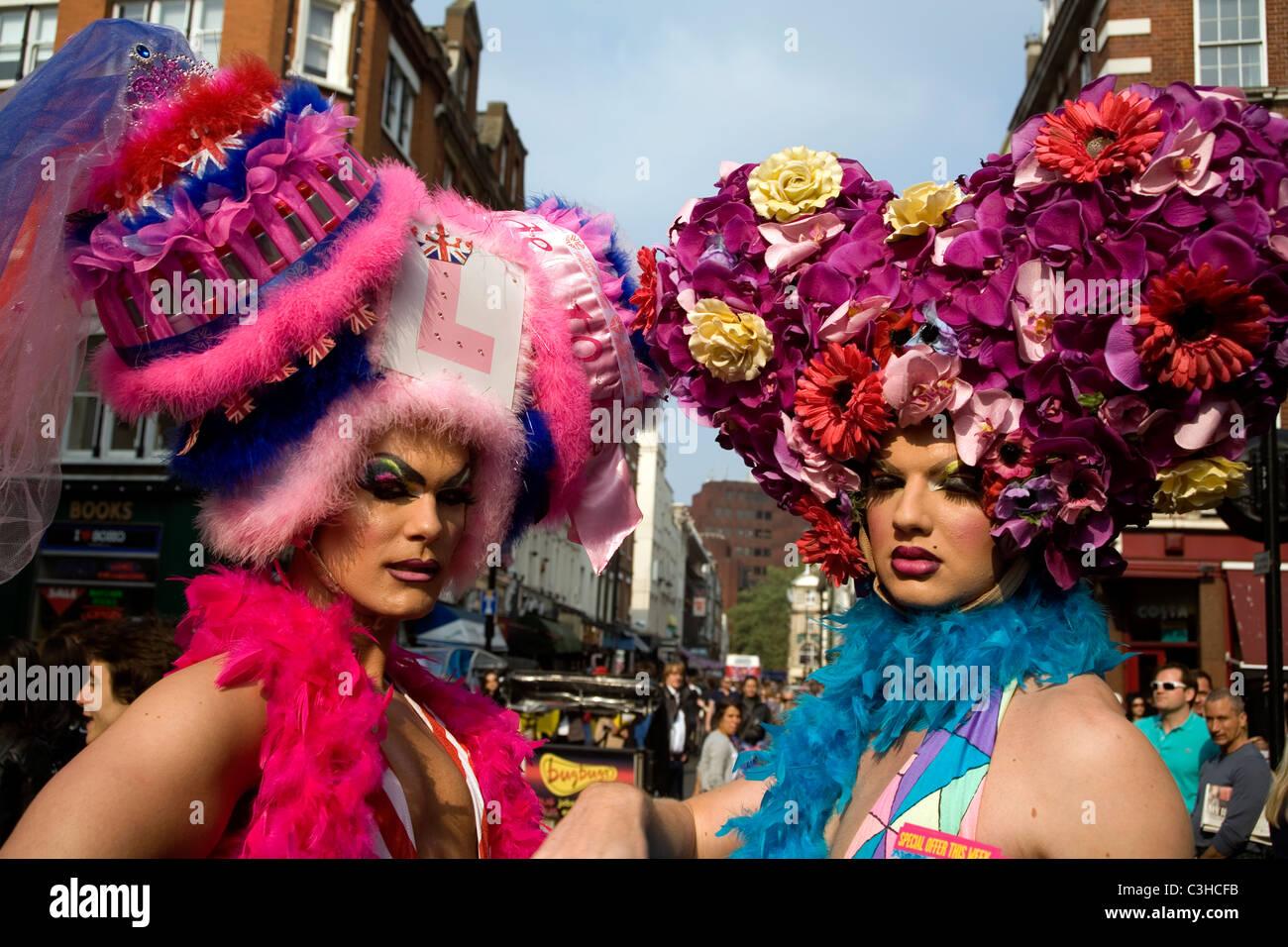Drag Queens à Soho, London England UK Photo Stock