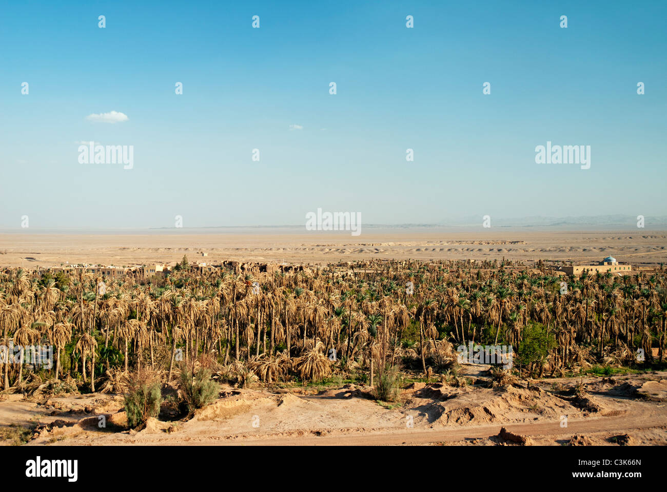 Garmeh oasis près de Yazd en Iran du sud Photo Stock