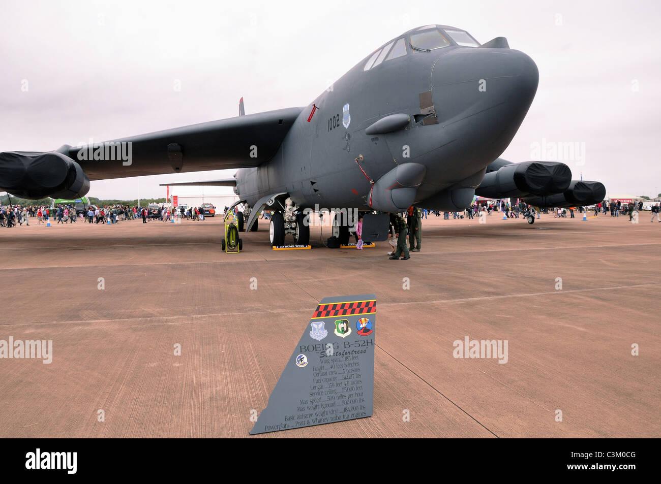 B52 Bomber, USAF, Fairford Banque D'Images