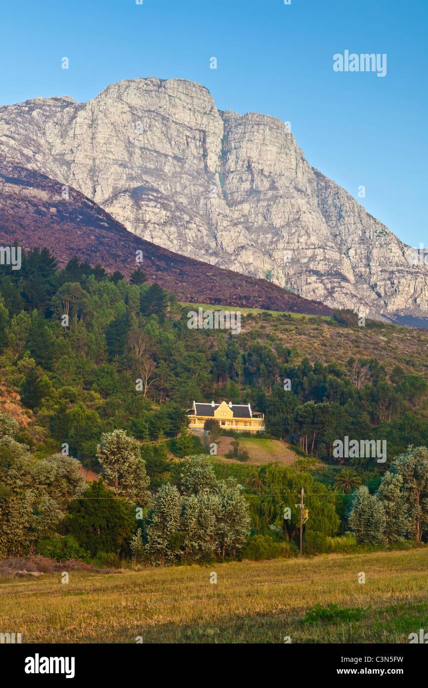 L'Afrique du Sud, Western Cape, près de Stellenbosch, Keermont Wine Estate et vignobles. Photo Stock