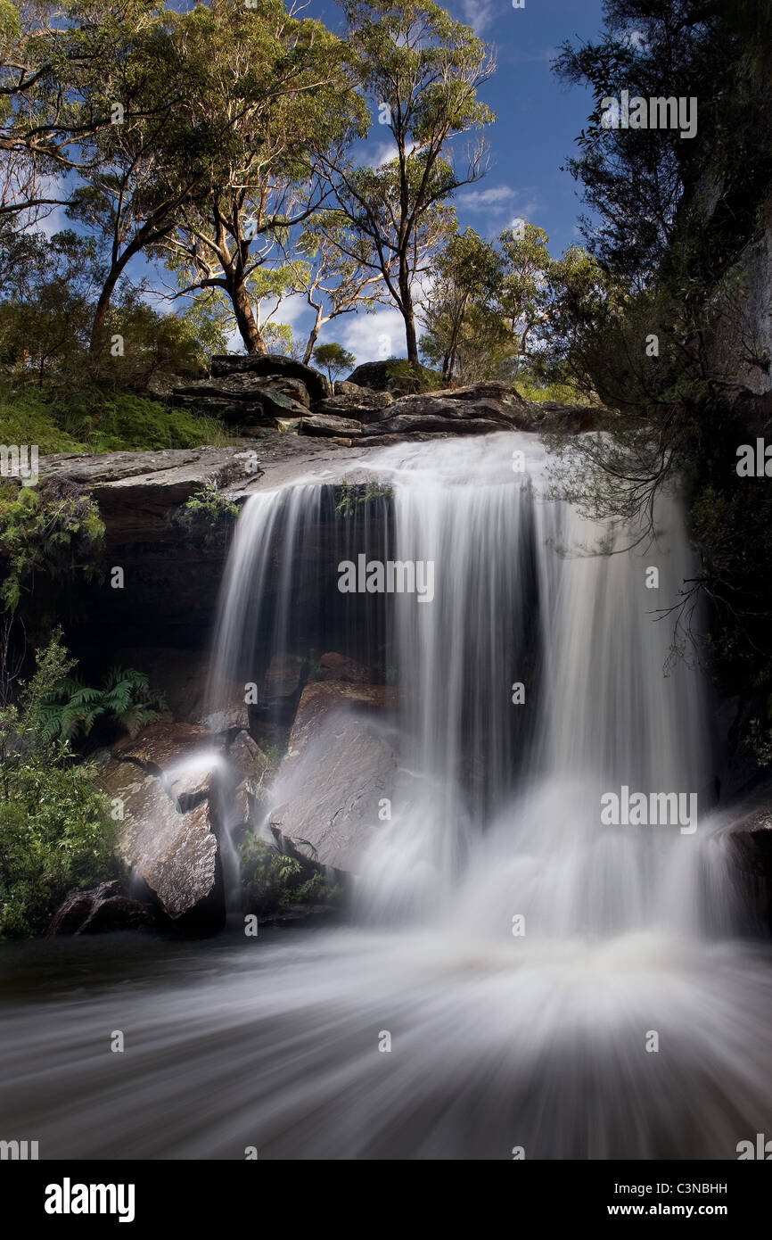 La région de Gledhill Falls au Ku-Ring-gai Chase National Park à Sydney, Australie Photo Stock