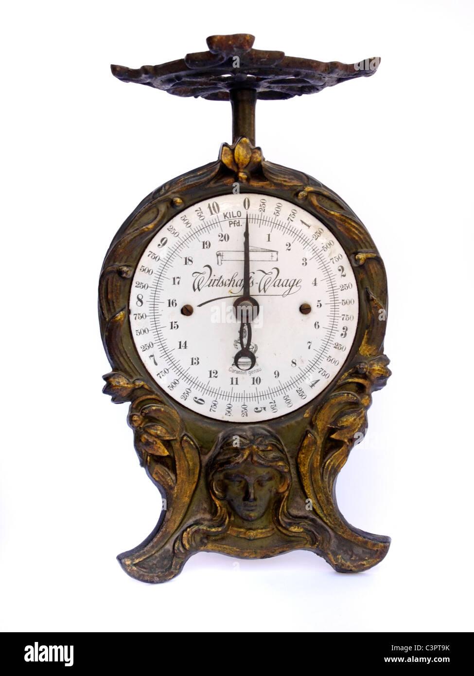 L'échelle des ménages d'antiquités Photo Stock