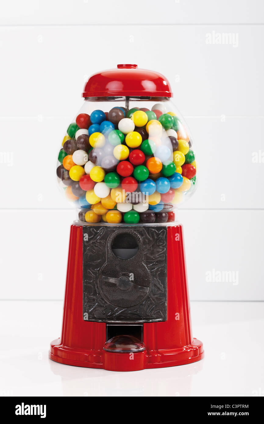 Bubble Gum machine, Close up Photo Stock