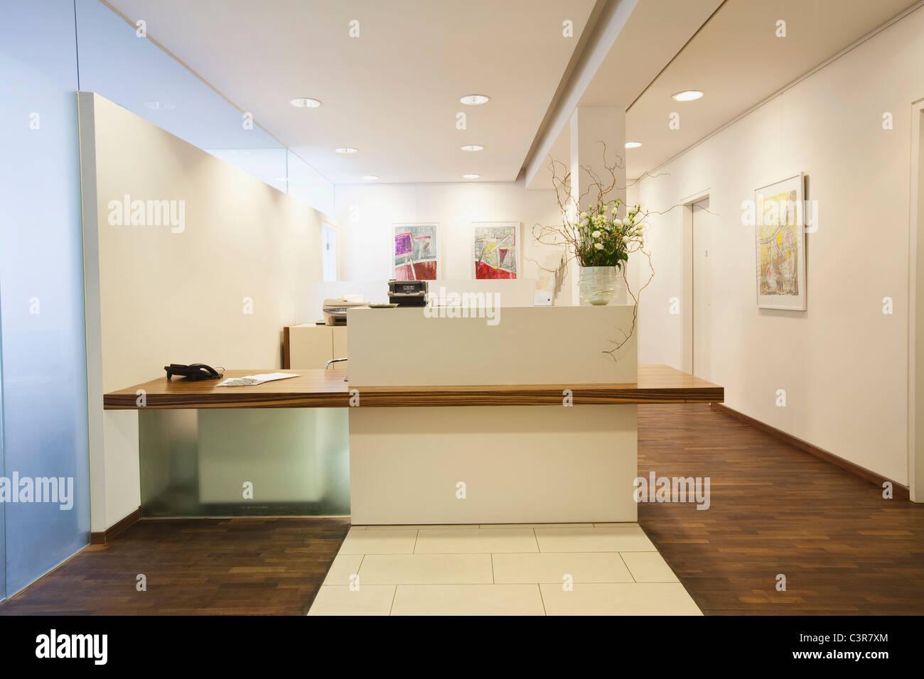 Allemagne, Munich, la réception de l'hôpital Photo Stock