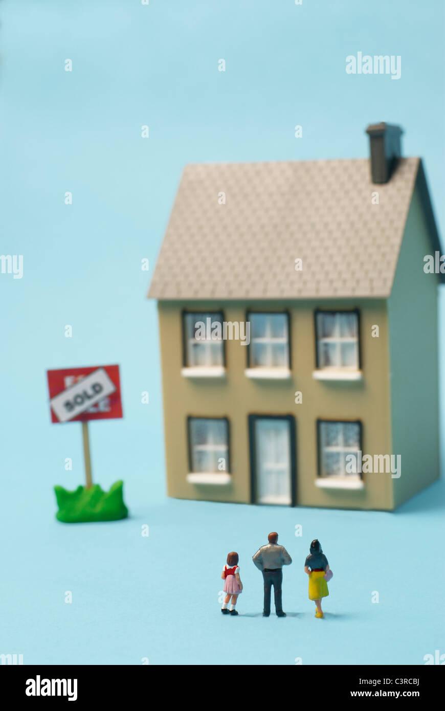 En face de chiffres modèle model house Photo Stock