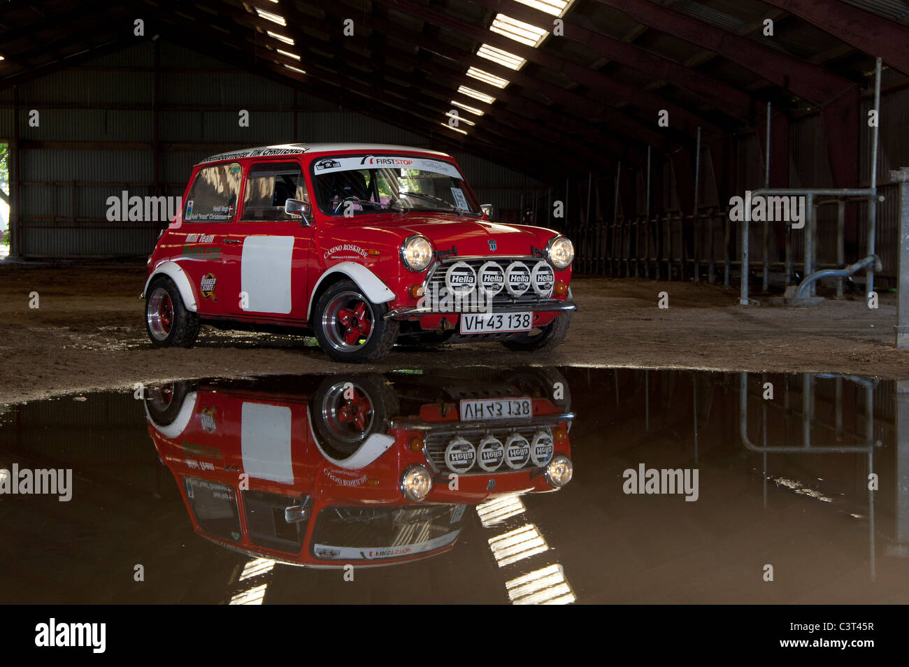 mini rally car photos mini rally car images alamy. Black Bedroom Furniture Sets. Home Design Ideas