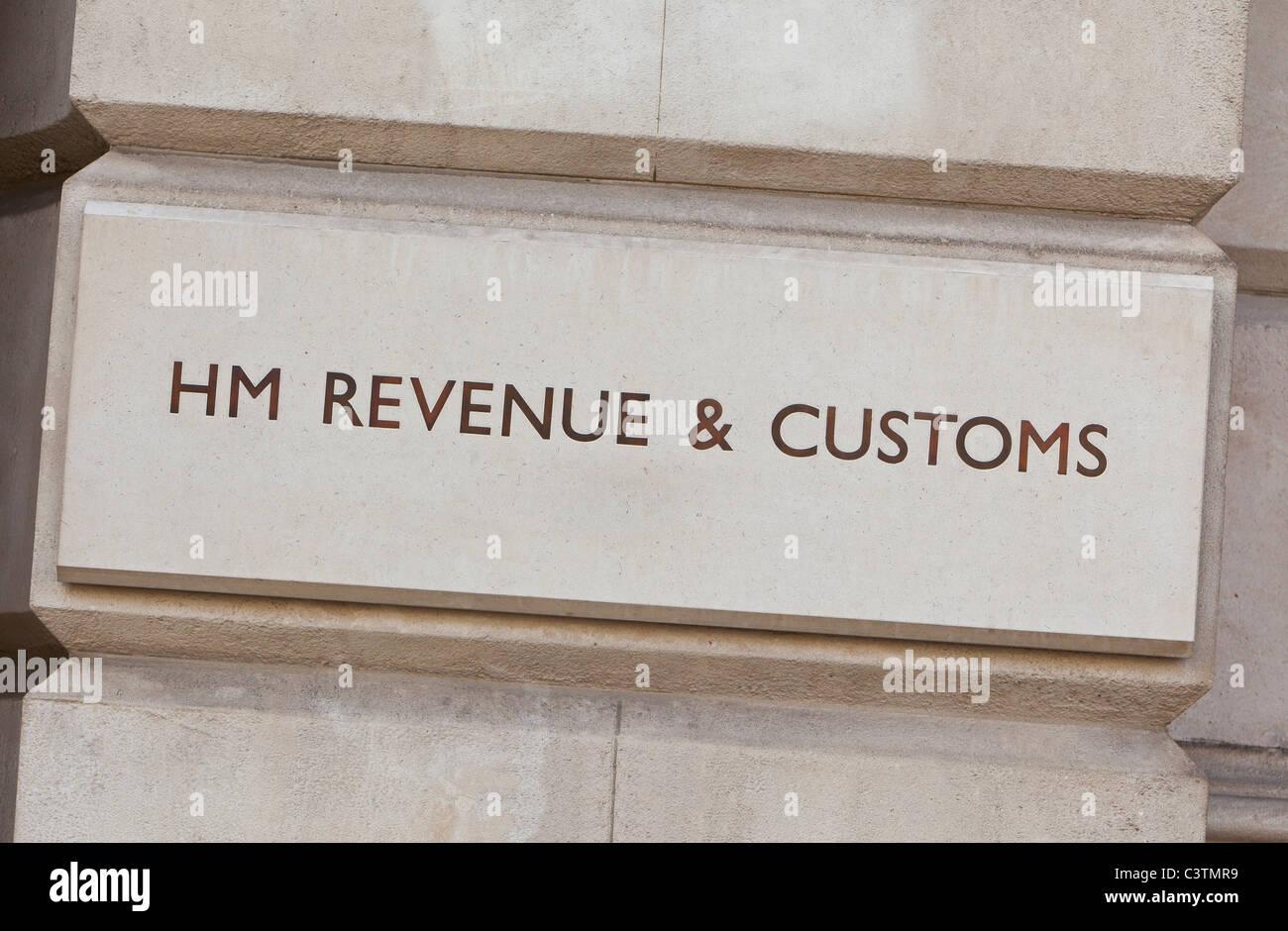 Inscrivez-HM Revenue & Customs, Whitehall, Londres, Angleterre, RU Photo Stock