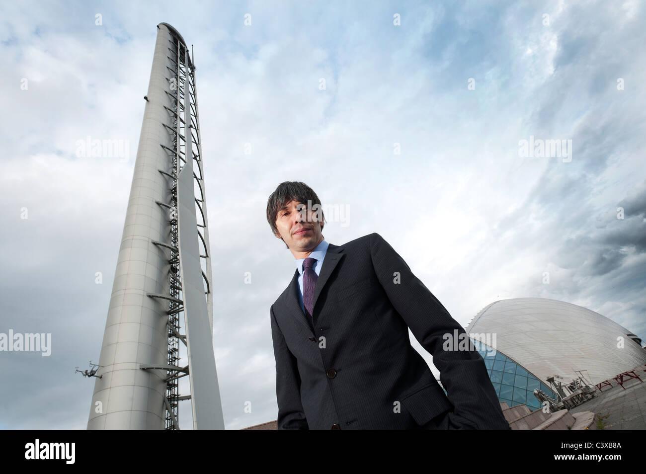 Le professeur Brian Cox en photo au centre des sciences de Glasgow, Glasgow, Ecosse. Banque D'Images
