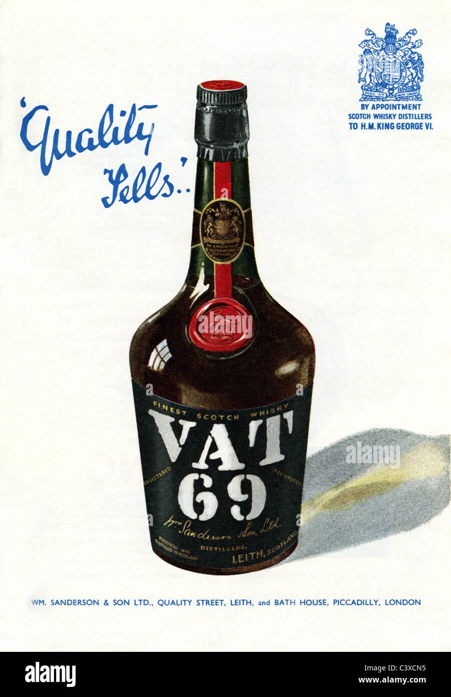 Publicité pour la TVA 69, de la Festival de Grande-Bretagne guide, publié par HMSO. Londres, Royaume-Uni, 1951 Banque D'Images