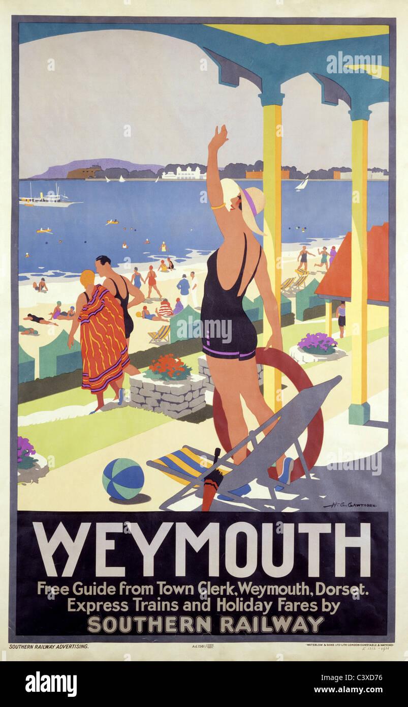 Weymouth, par H.G. Gawthorne. Angleterre, début du 20e siècle Banque D'Images