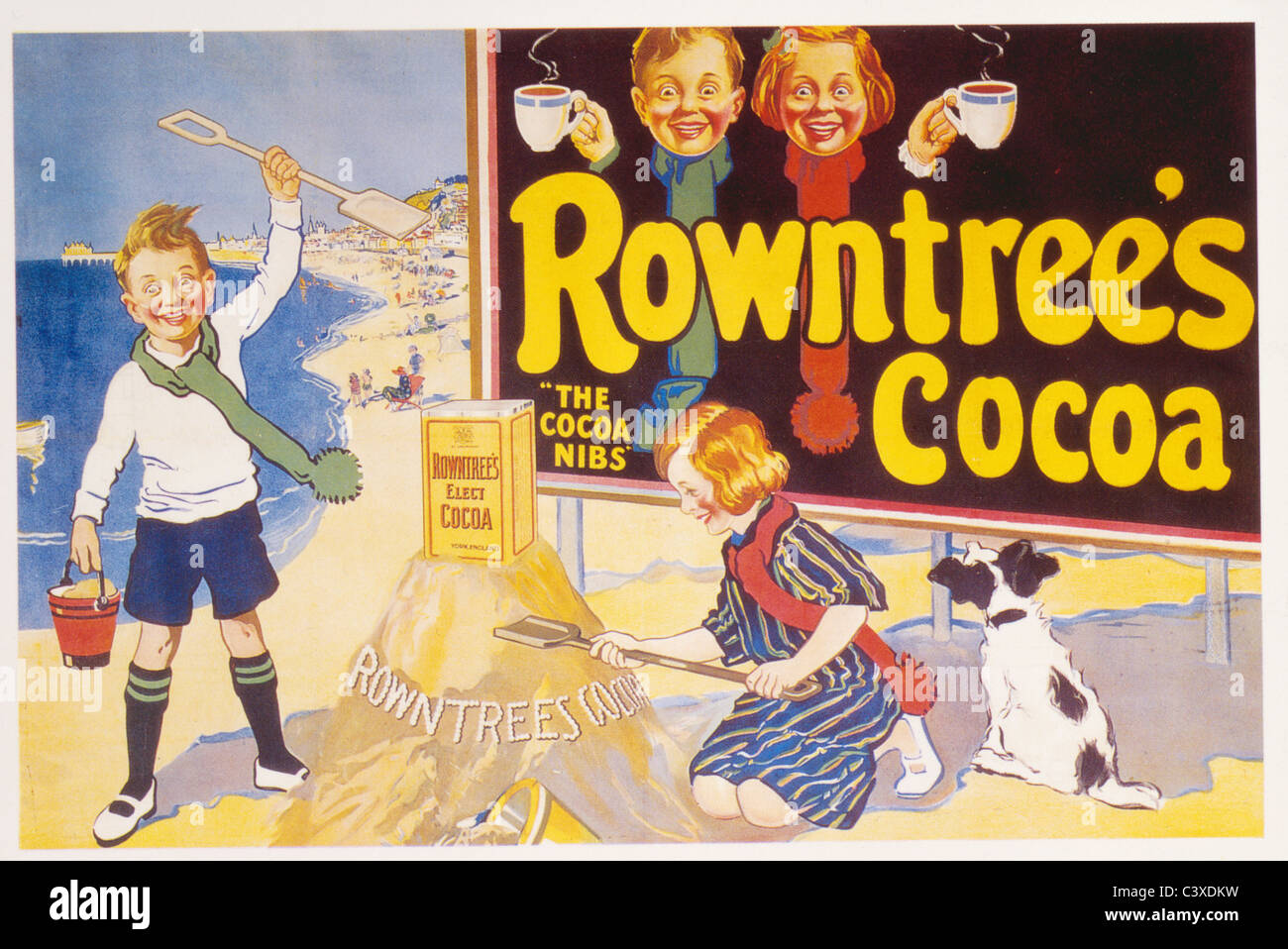 Rowntree's Cocoa, par anonyme. Angleterre, 1957 Banque D'Images