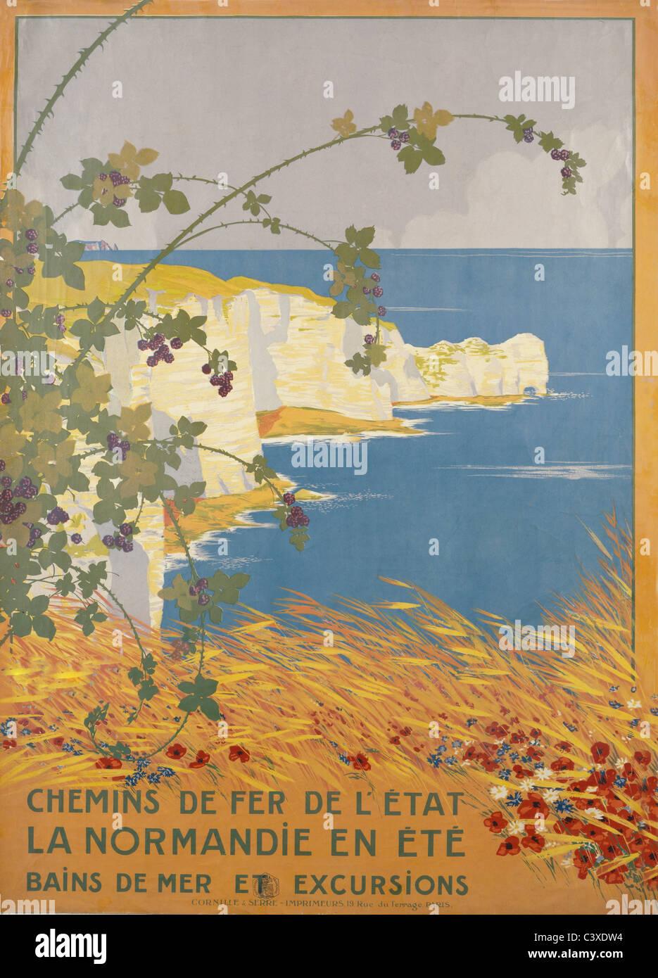La Normandie en été, par Georges Dorival. Londres, Angleterre, 20e siècle Banque D'Images