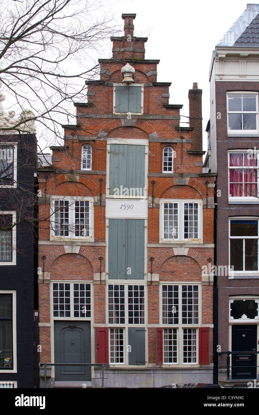 Architecture Maison amsterdam hollande Pays-Bas Photo Stock