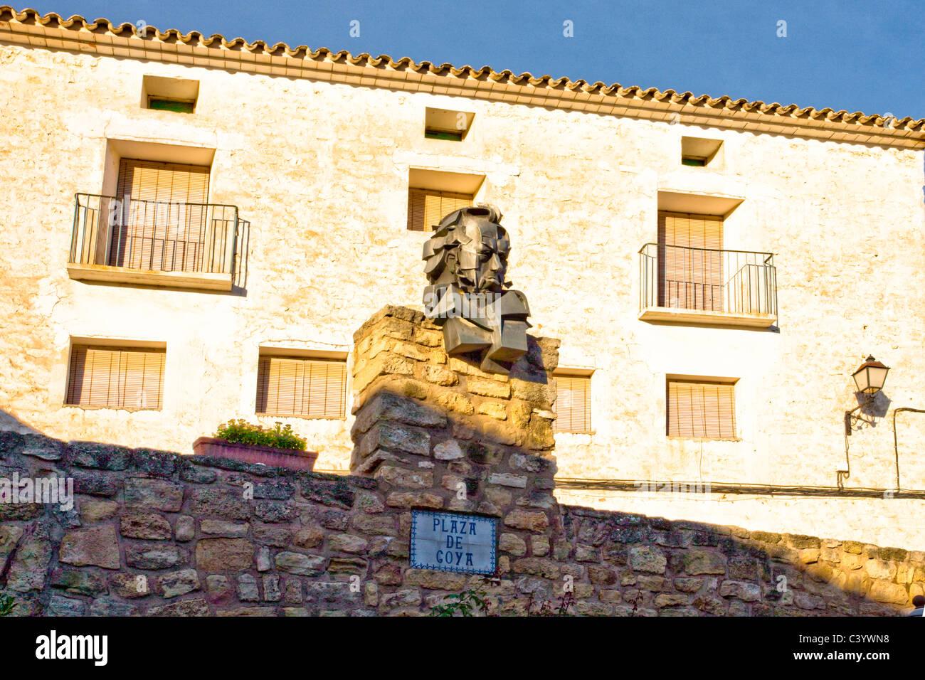 L'Espagne, l'Europe, Aragon, Fuendetodos, Goya, plastique, Photo Stock