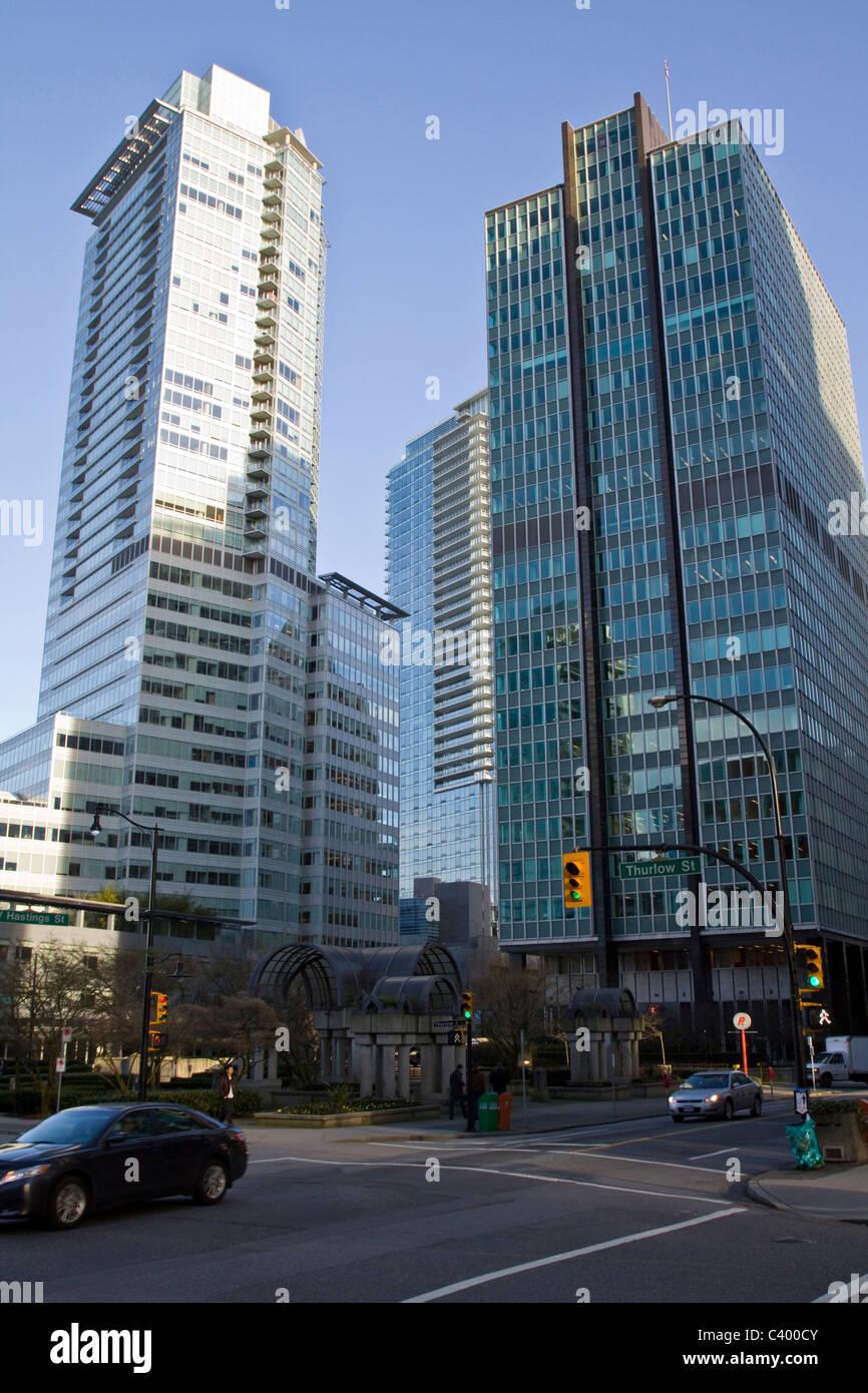 Le centre-ville de scènes, Vancouver, BC, Canada Banque D'Images