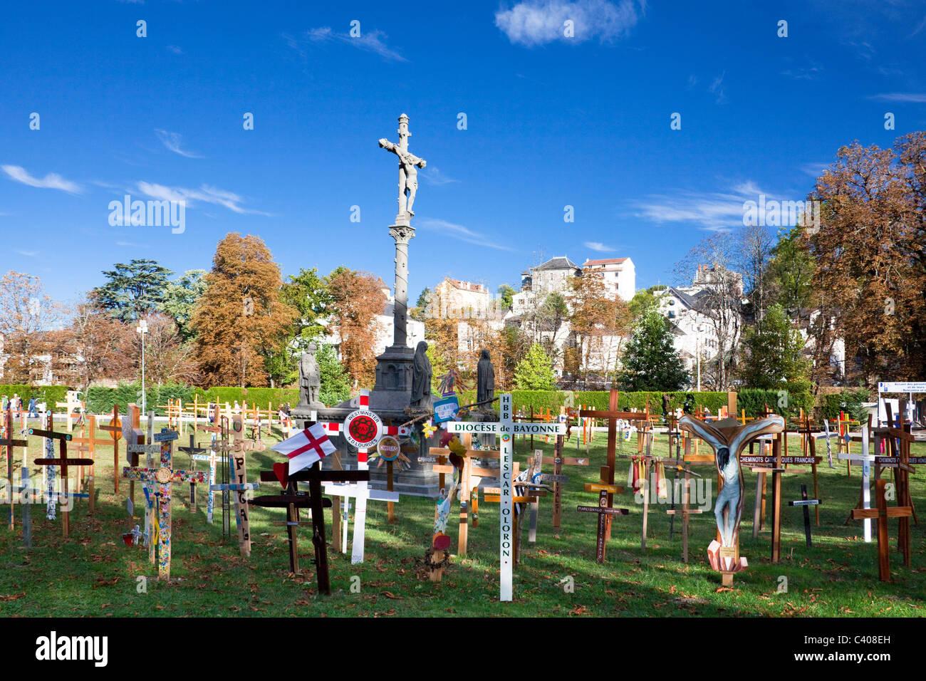 France, Europe, Lourdes, Pyrénées, lieu de pèlerinage, l'espoir, de miracle, croix, religion Banque D'Images