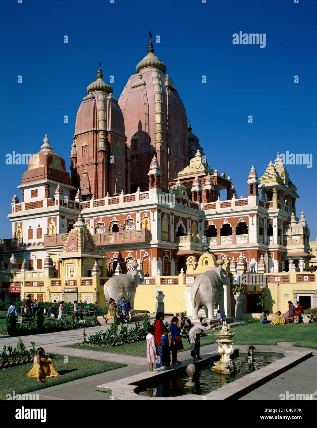 La Birla Mandir, Delhi, Fortune, Jardin, déesse, bon, vacances, Inde, Asie, Lakshmi, Monument, Monument, Narayan, Photo Stock