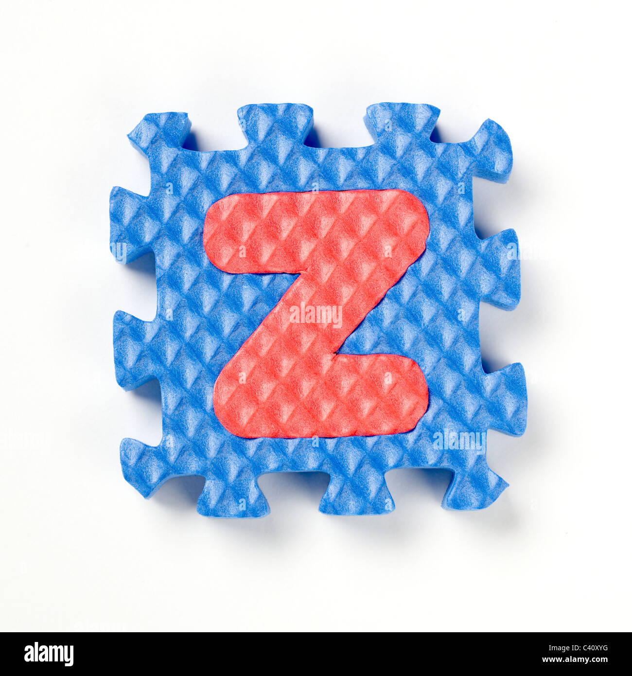 Pièce de puzzle alphabet Z Photo Stock
