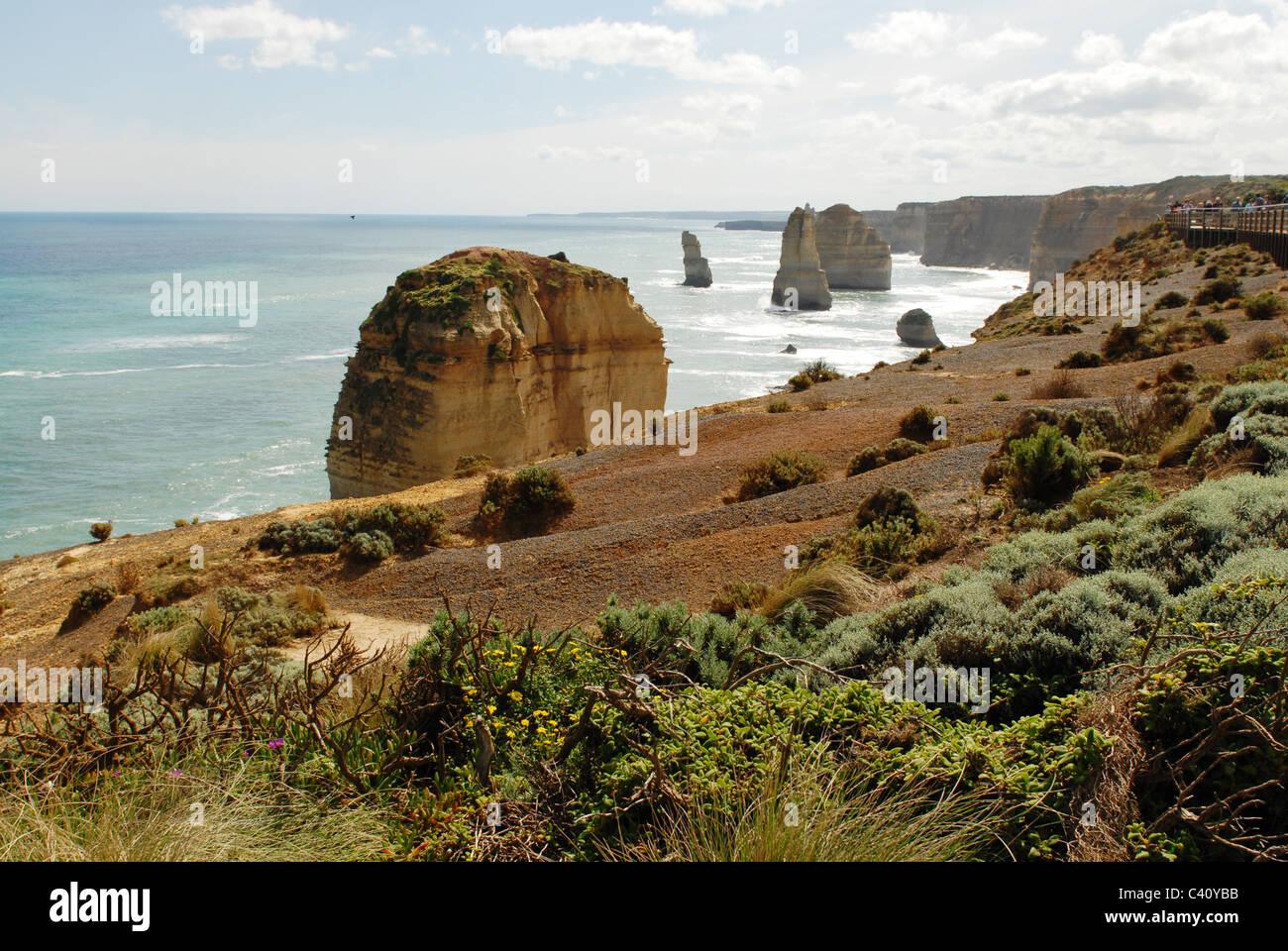 Monde connu douze apôtres à Port Campbell National Park's Shipwreck Coast sur le Grand Océan Photo Stock