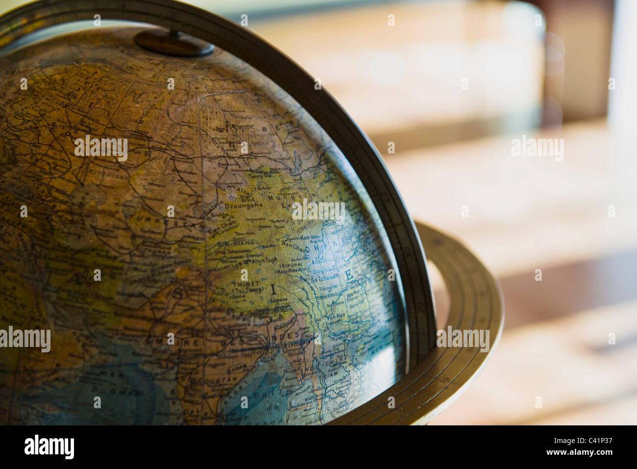 Globe, recadrée Banque D'Images