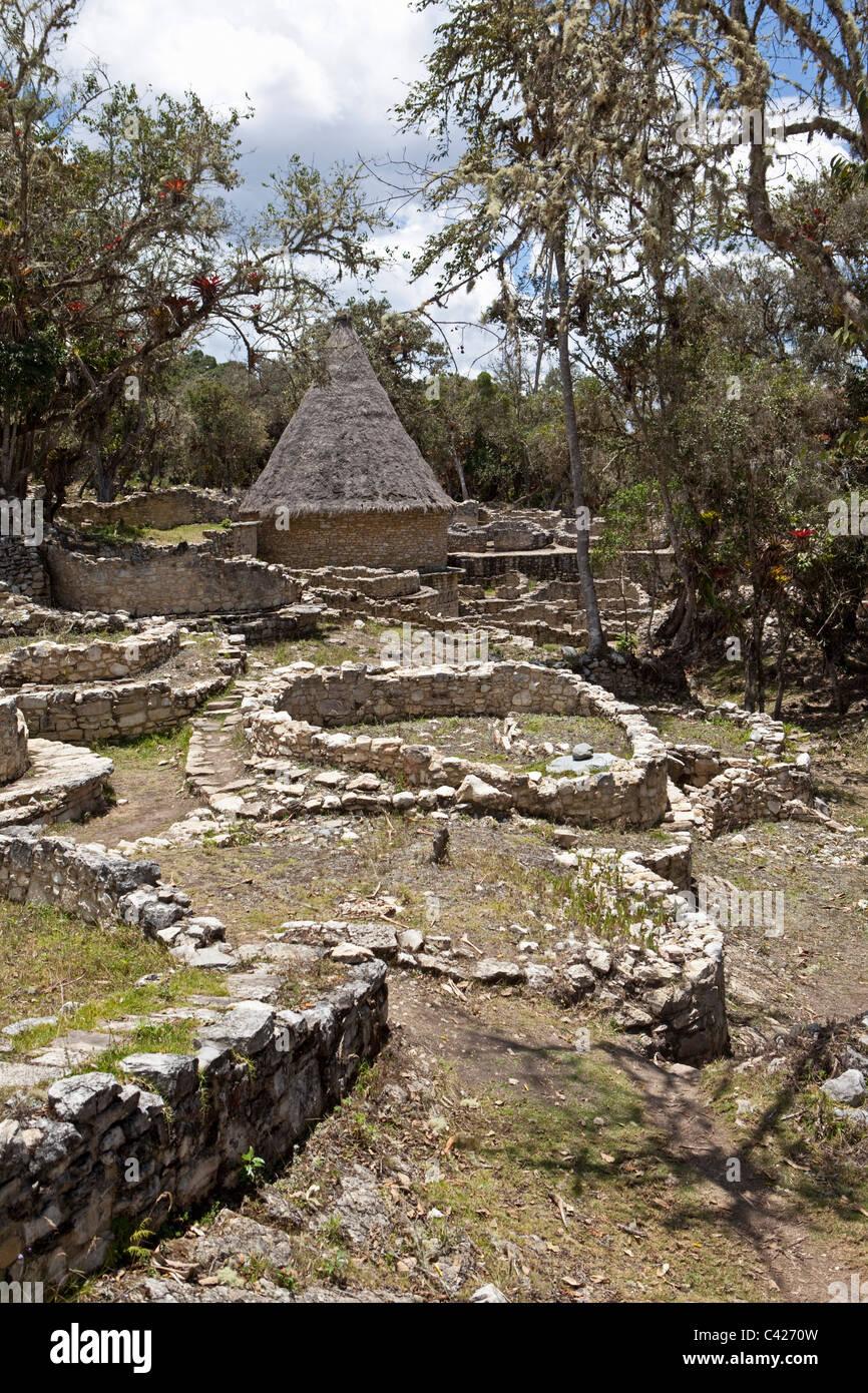 Pérou, Chachapoyas Kuelap, mountain settlement et Citadelle, construite par le culture Chachapoyas (900-1200 Photo Stock