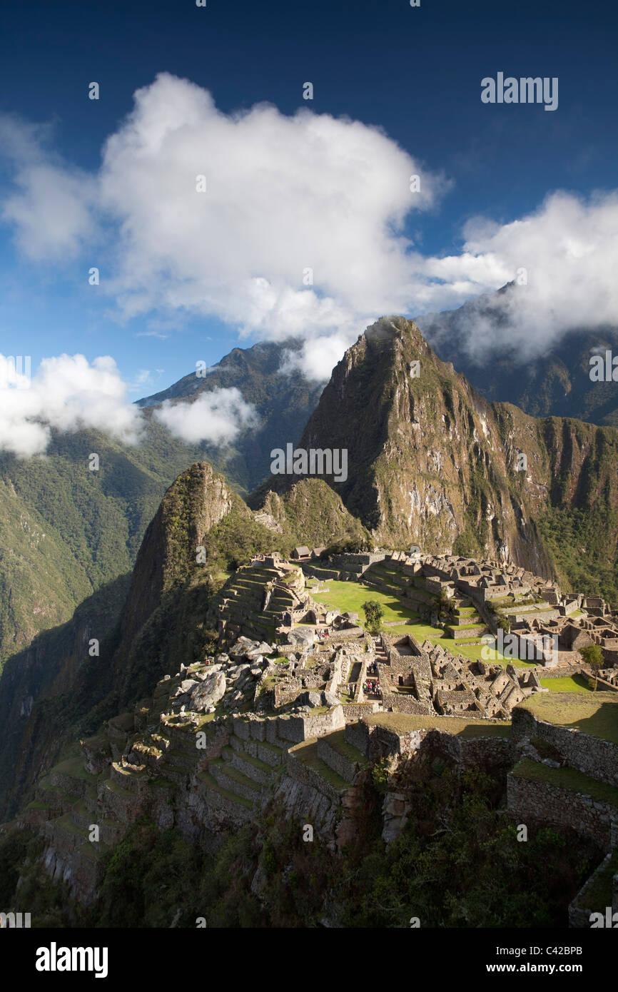 Le Pérou, 15ème siècle site Inca situé à 2 430 mètres (7 970 ft) au-dessus du niveau Photo Stock