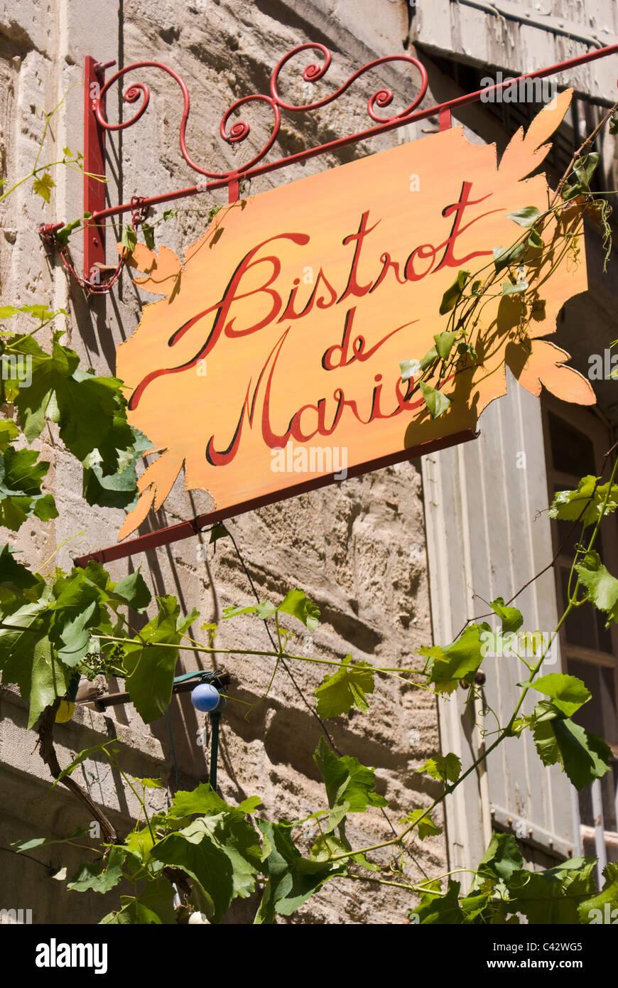 Le Bistrot de Marie, restaurant à Aix-en-Provence Photo Stock
