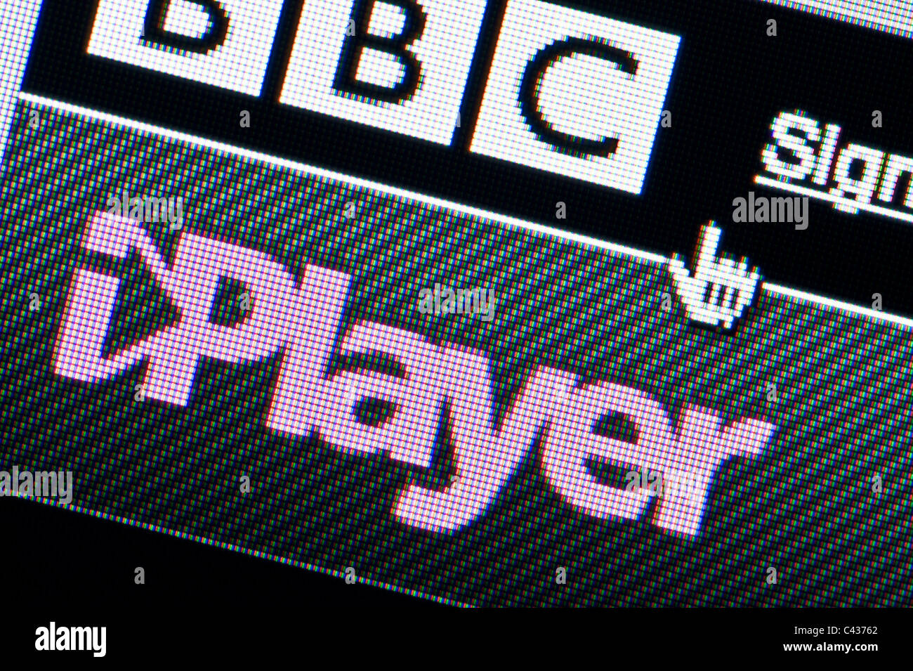 Close up of BBC iPlayer Desktop Manager comme vu sur site de la BBC. (Usage éditorial uniquement : -Print, Photo Stock