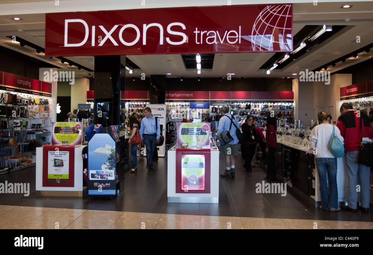 Dixons Travel - Franchise de Electirical - Détaillant Heathrow Airport Terminal 5 - Londres Photo Stock