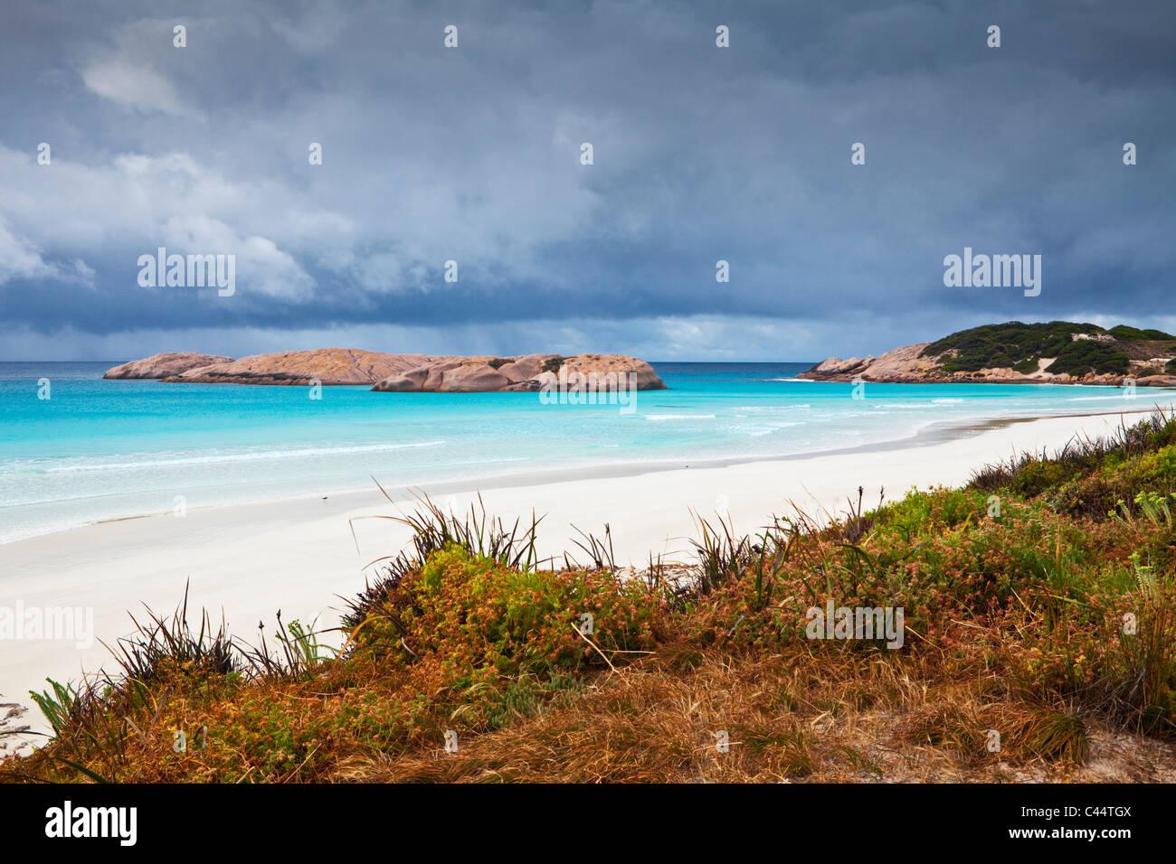Plage de crépuscule, Esperance, Western Australia, Australia Photo Stock