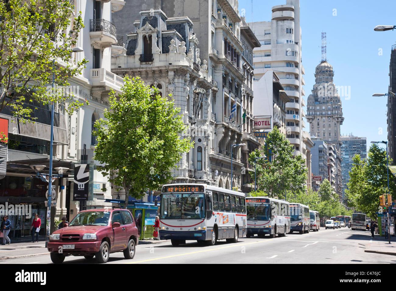 Avenida 18 de Julio, Montevideo, Uruguay Photo Stock