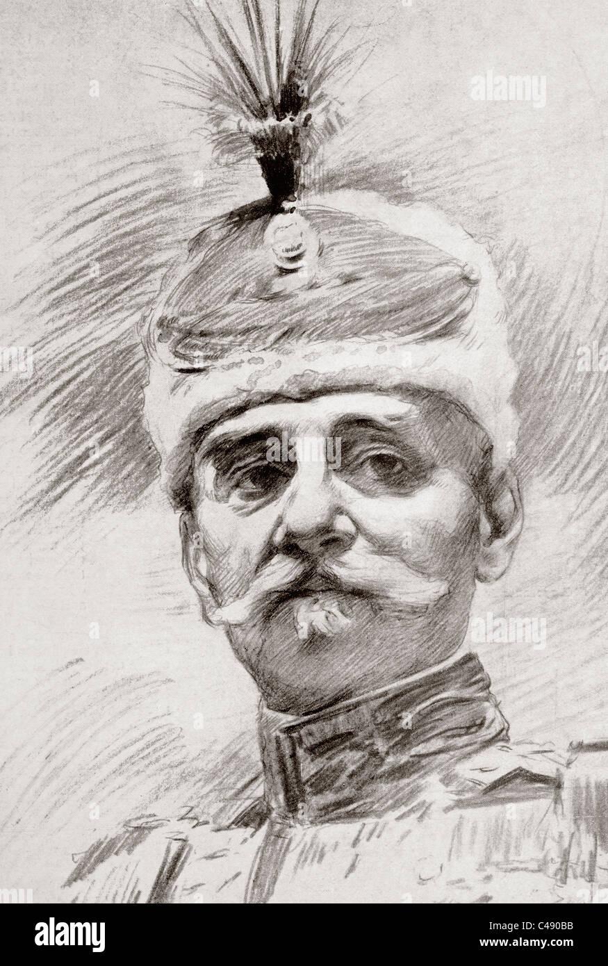 Peter I, 1844 - 1921, Roi de Serbie. Photo Stock
