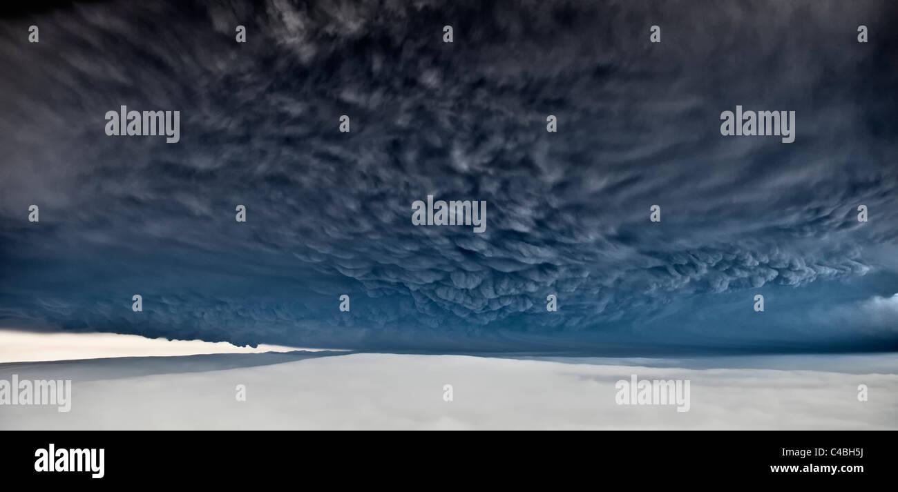 Grimsvotn en vertu de l'éruption volcanique en Islande, le glacier Vatnajokull Photo Stock