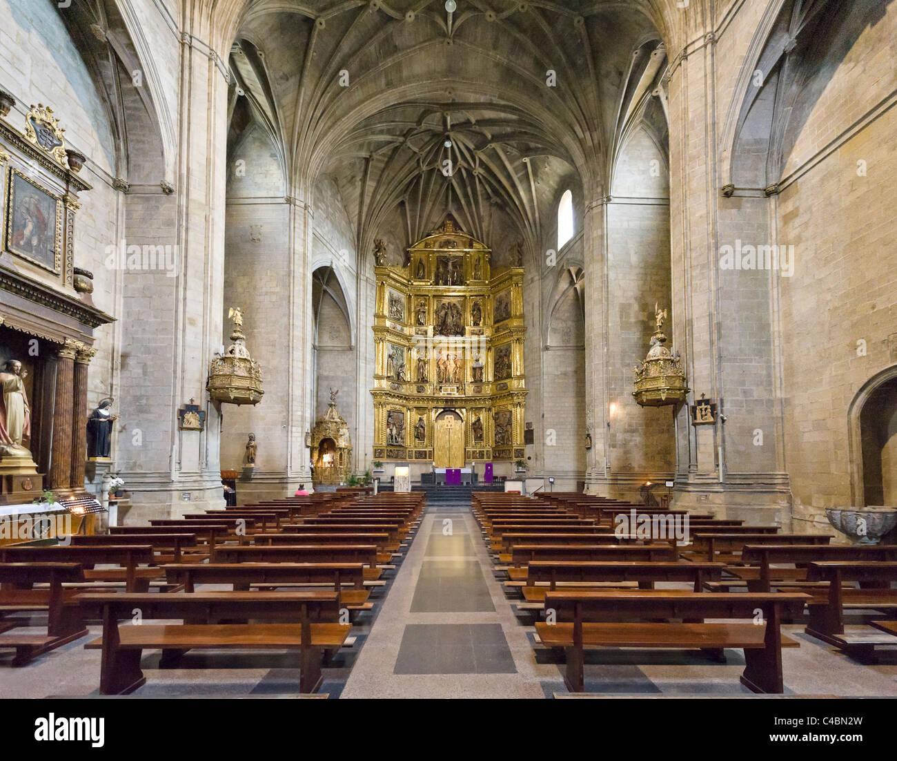 L'église de St James (Iglesia de Santiago el Real) un arrêt important sur le Camino de Santiago, Logroño, Photo Stock