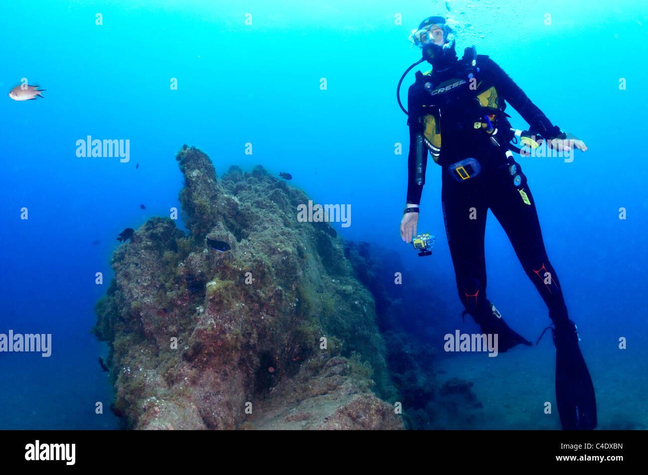 Scuba diver Photo Stock