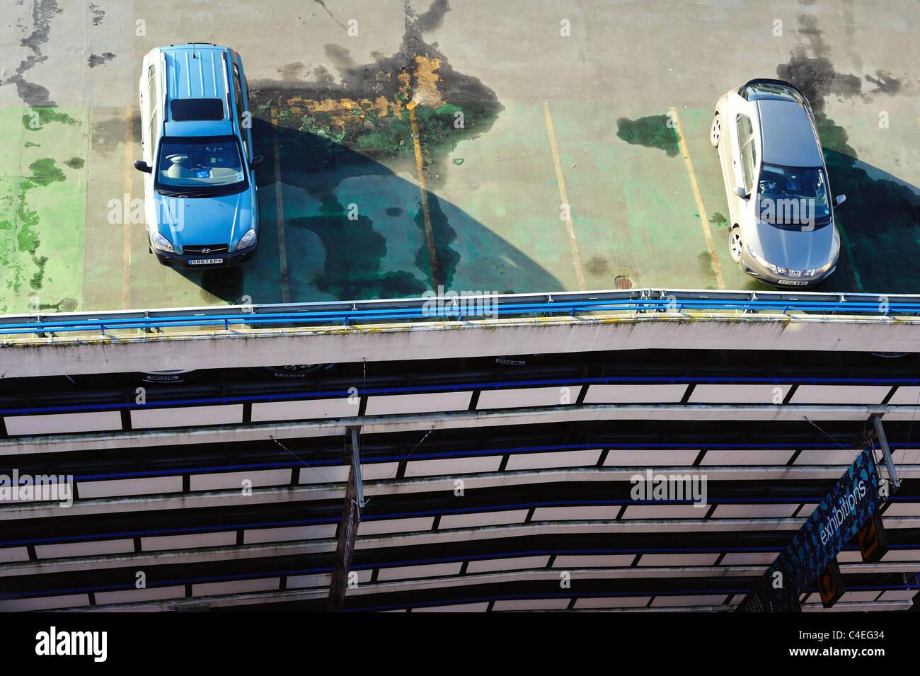 Vue aérienne de la voiture parc sur West Nile Street, Glasgow Banque D'Images