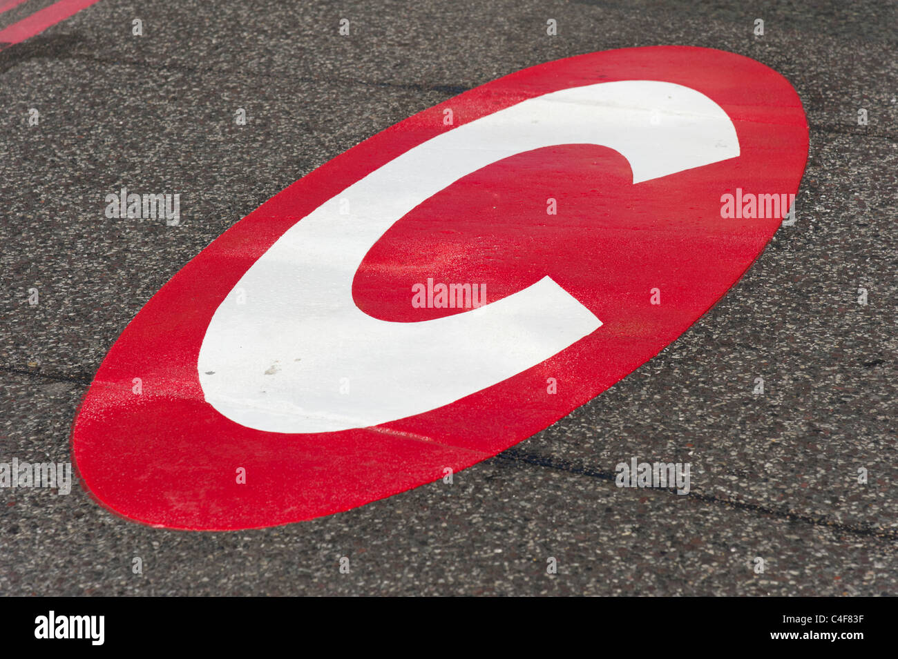 London congestion charge signe, Londres, Royaume-Uni Photo Stock