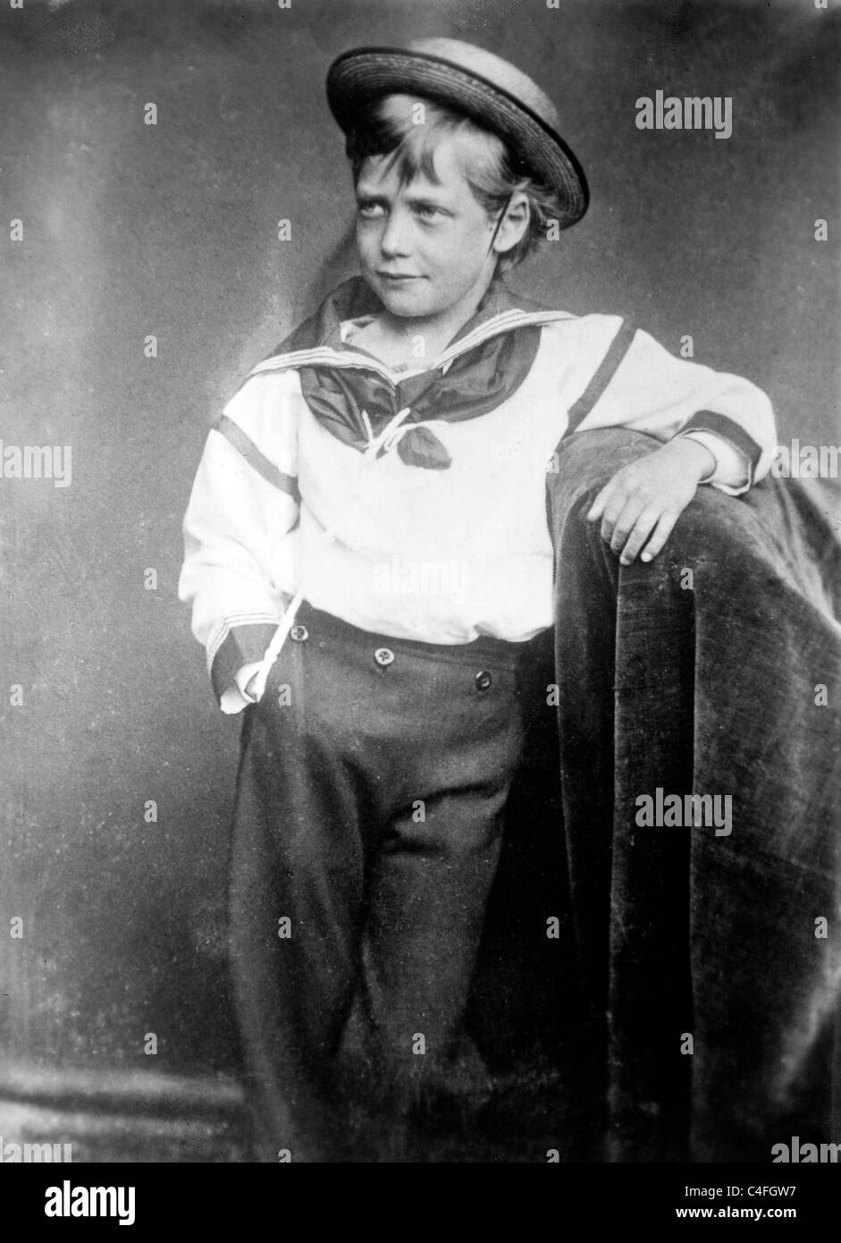 Le roi George en tant que jeune garçon, 1870 Photo Stock
